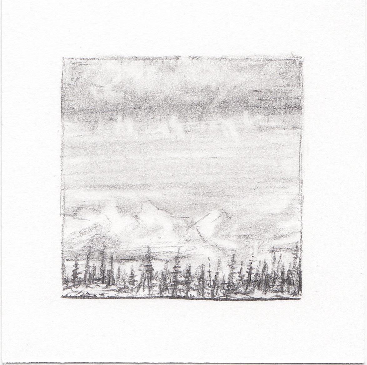 #23 Long Lake, Uinta Mountains, Utah | 3x3 | graphite