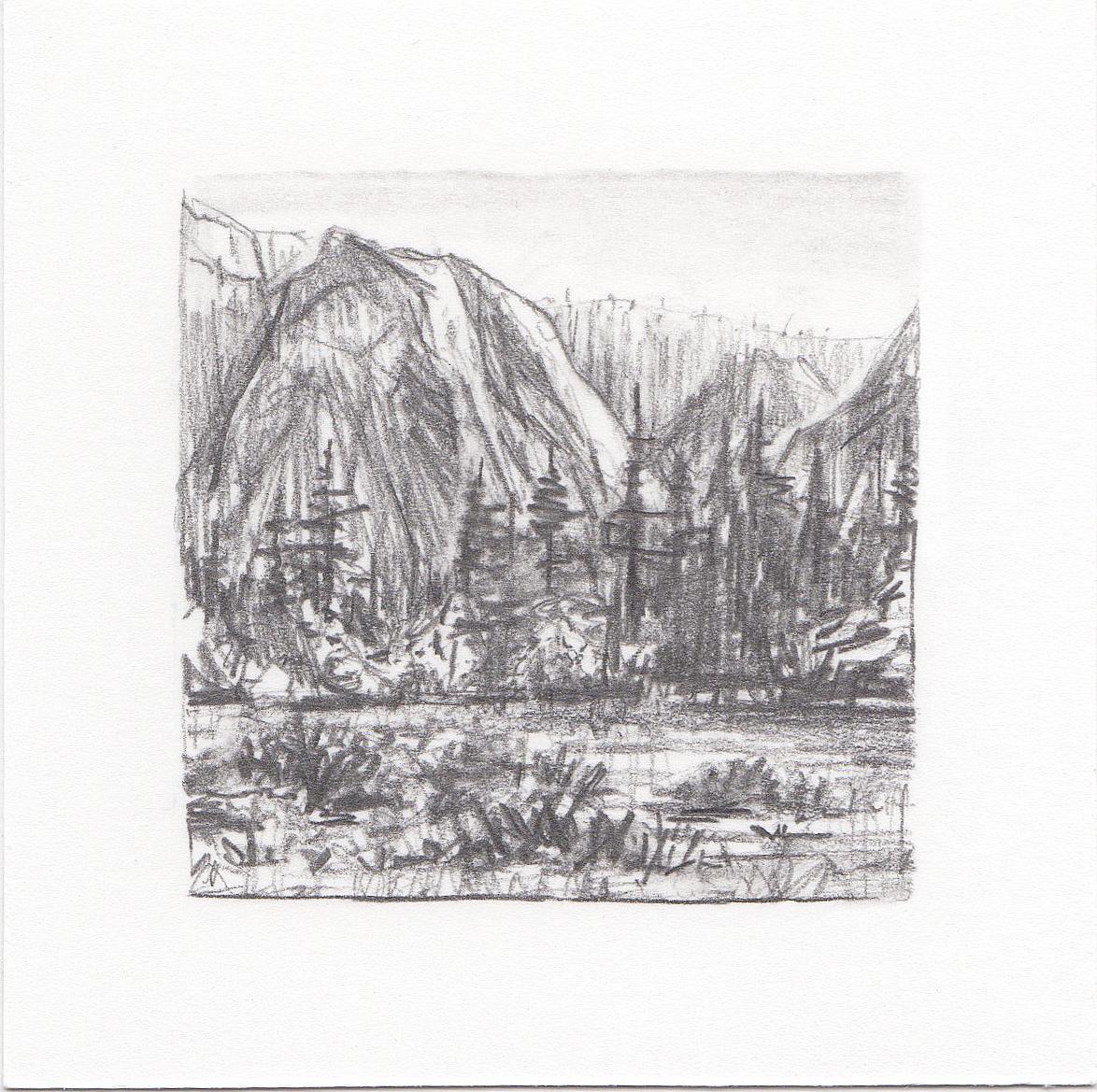#24 Yosemite National Park, California | 3x3 | graphite