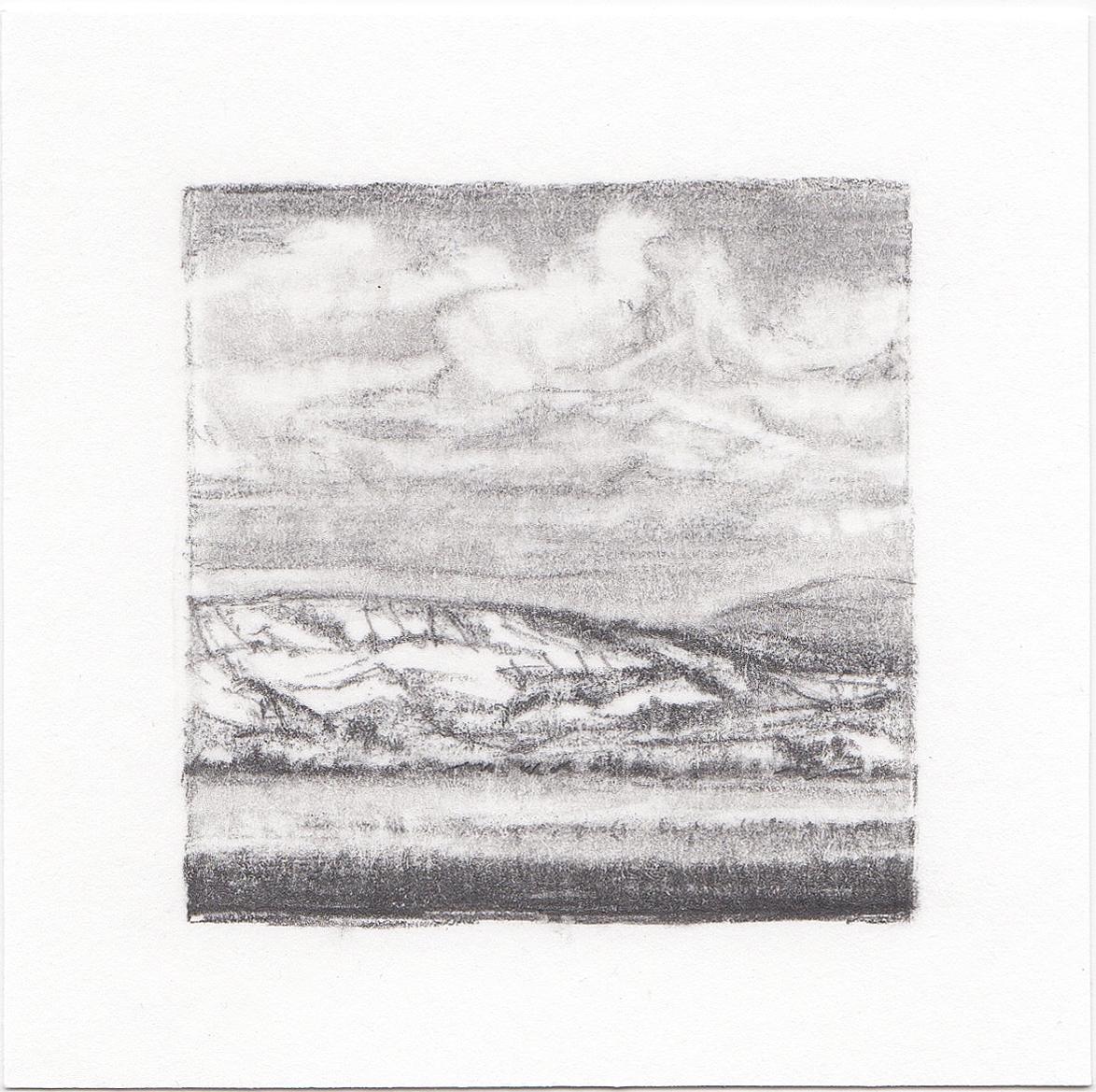 #25 Uinta Mountains, Utah | 3x3 | graphite