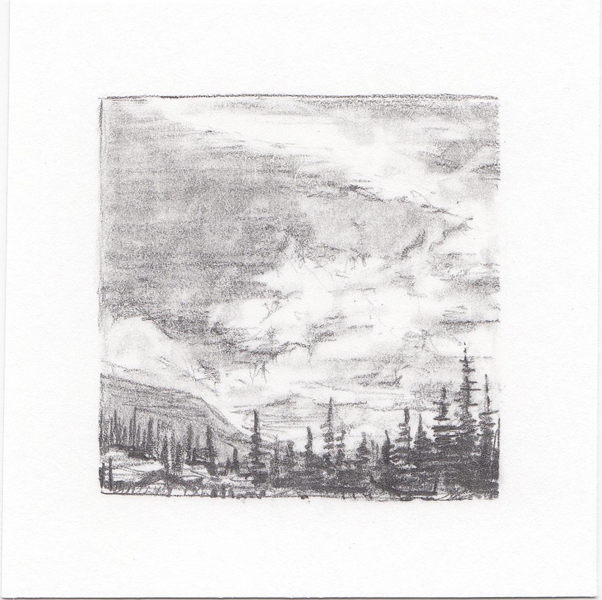 #26 Long Lake, Uinta Mountains, Utah | 3x3 | graphite