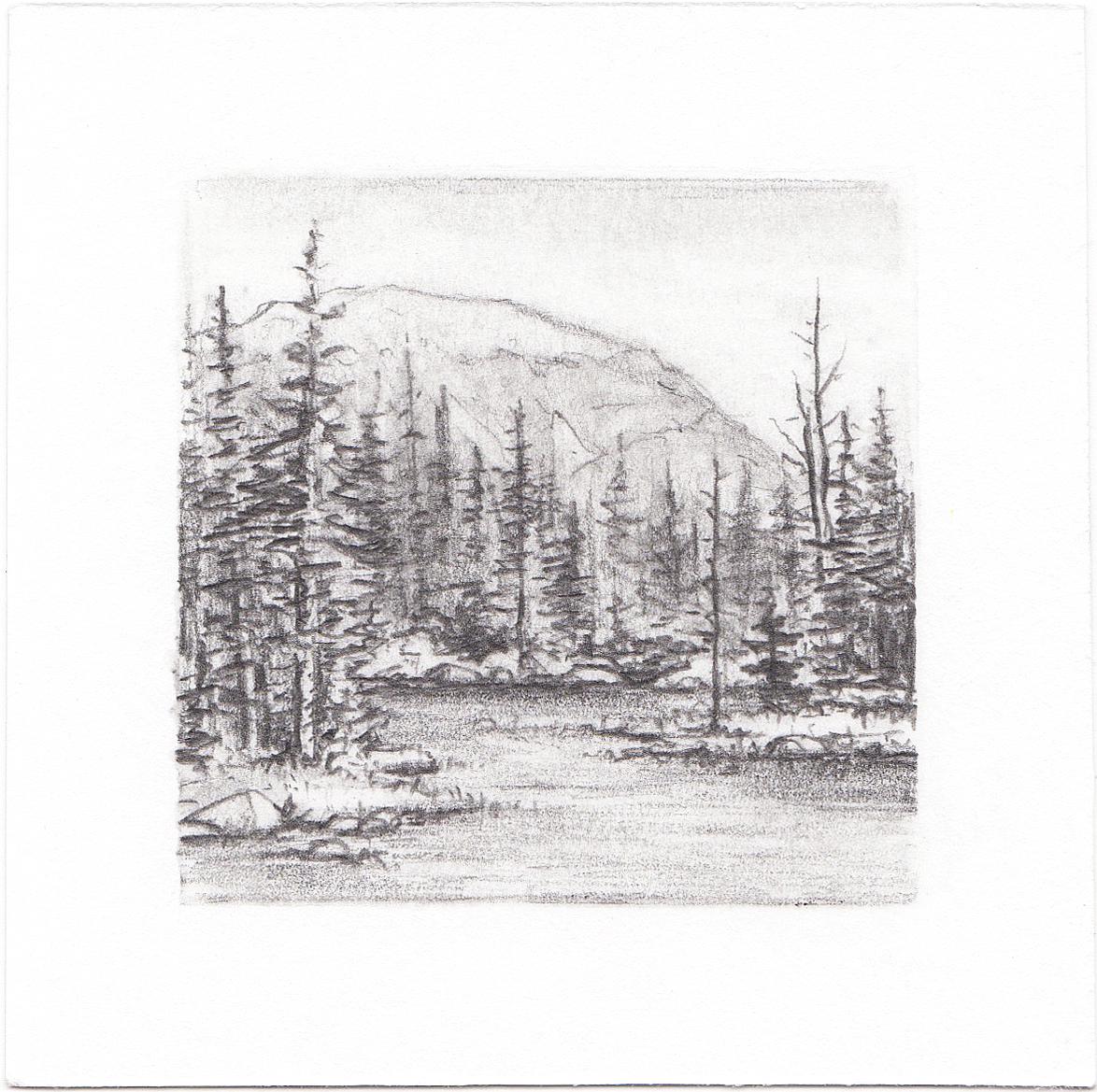 #27 Hayden Lake, Uinta Mountains, Utah | 3x3 | graphite