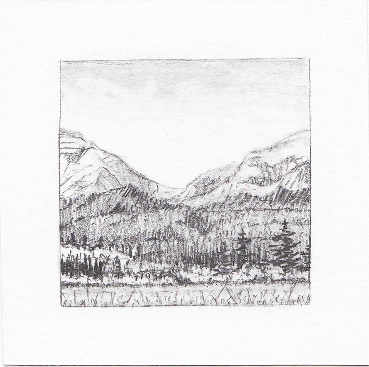 #30 Glacier National Park, Montana | 3x3 | graphite