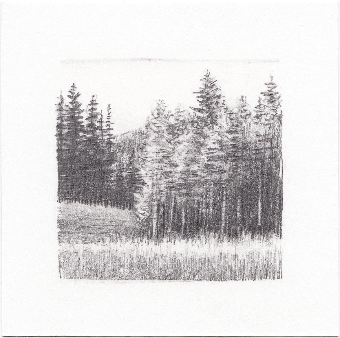 #32 Desolation Lake, Wasatch Mountains, Utah | 3x3 | graphite