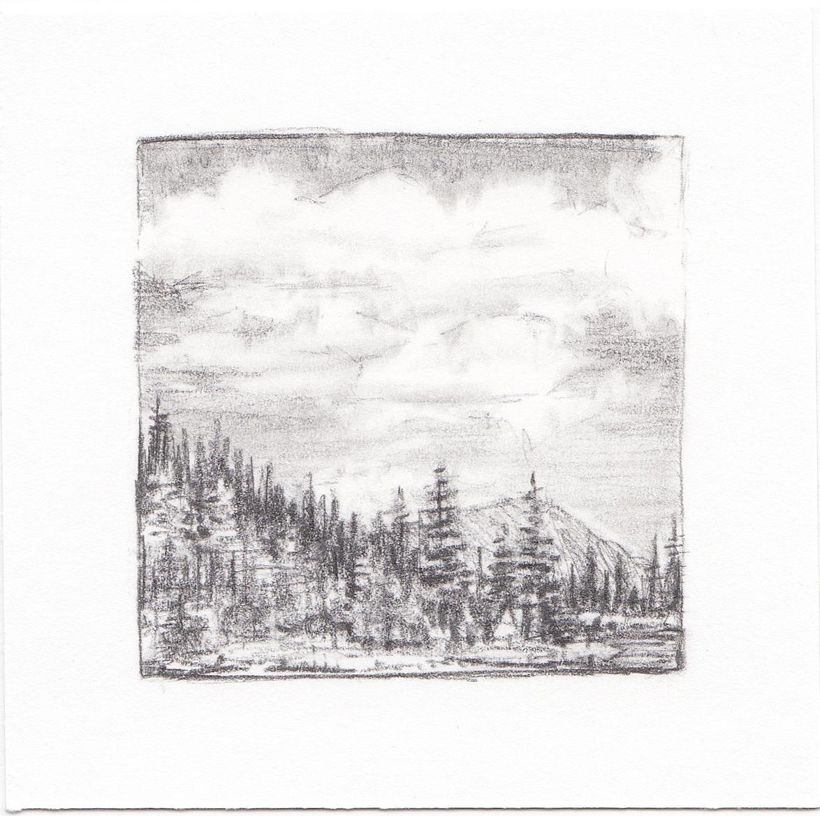 #35 Hayden Lake, Uinta Mountains, Utah | 3x3 | graphite