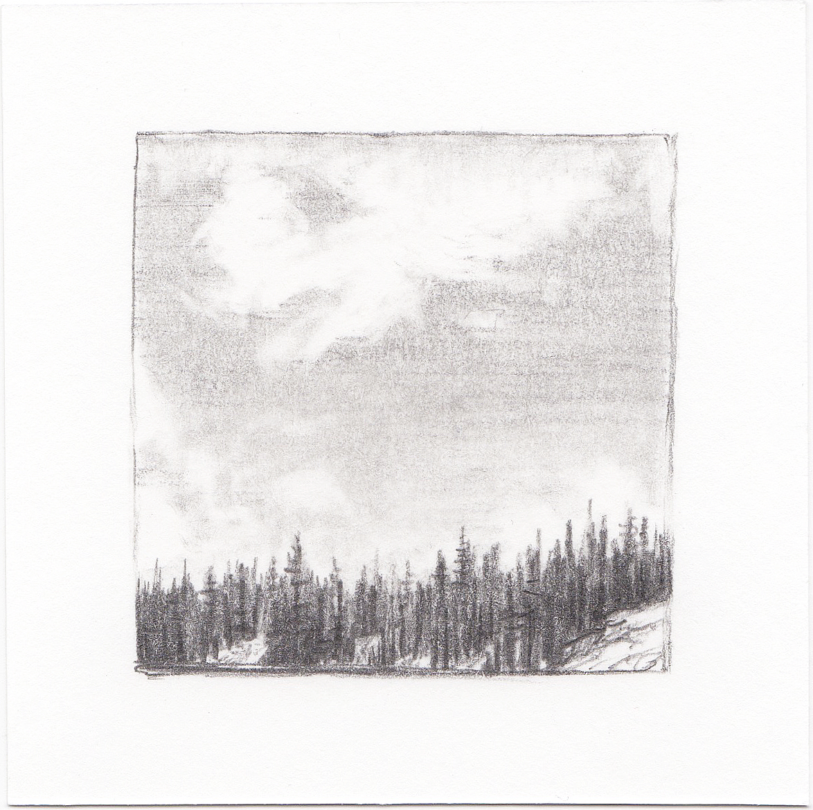 #36 Long Lake, Uinta Mountains, Utah | 3x3 | graphite