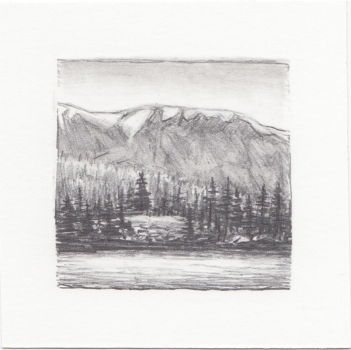 #37 Uinta Mountains, Utah | 3x3 | graphite