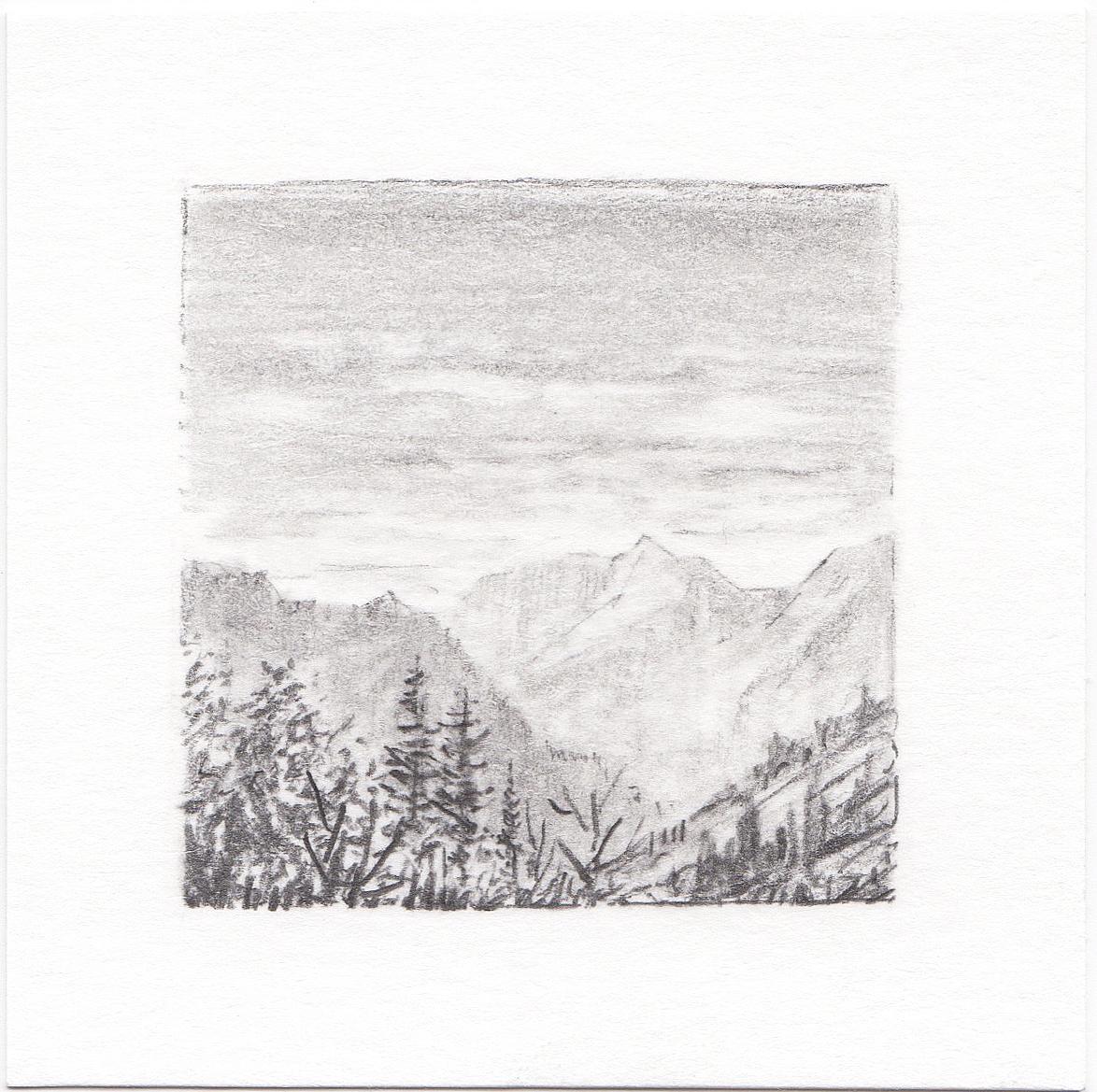 #41 Yosemite National Park, California | 3x3 | graphite