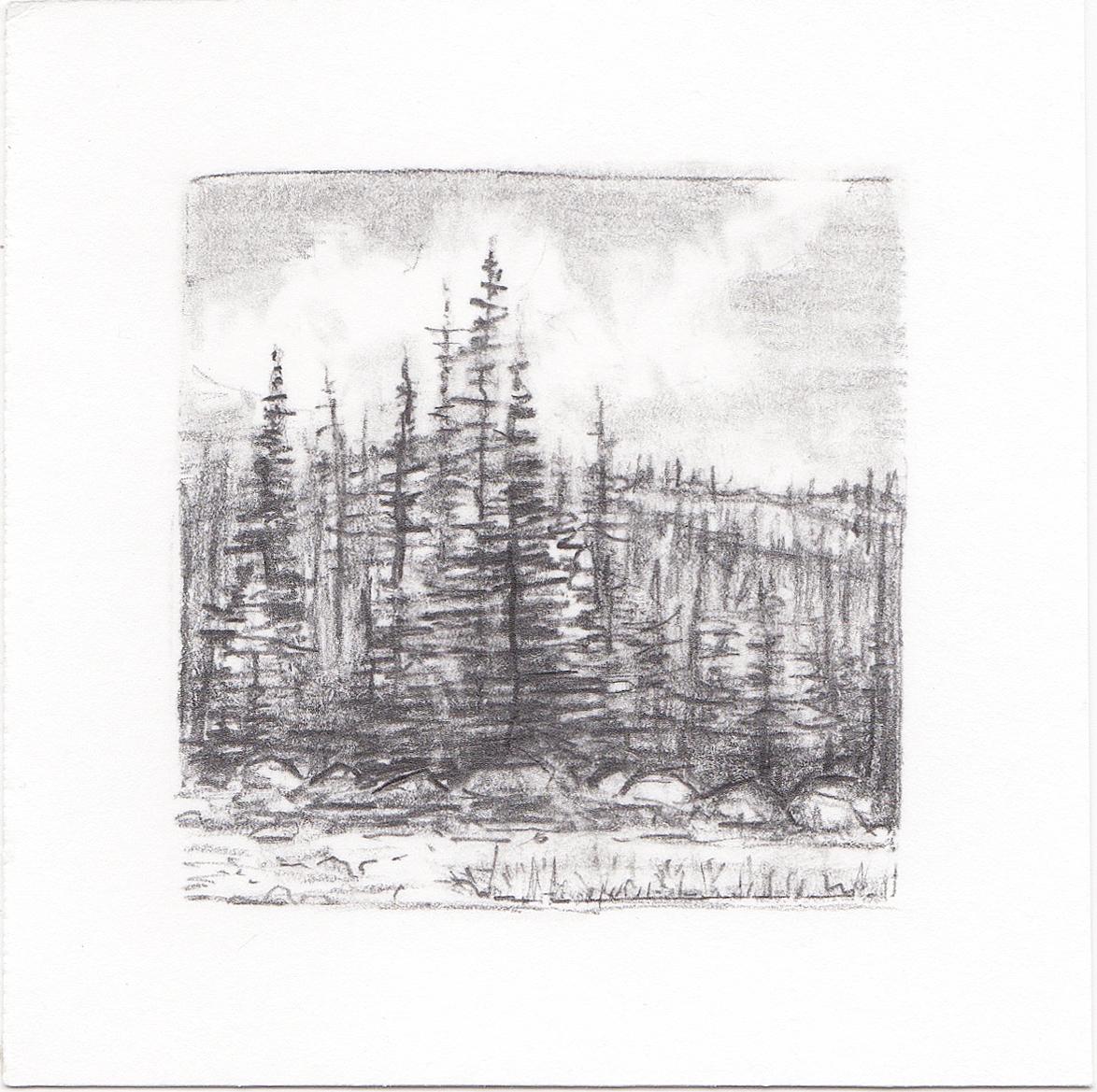 #43 Uinta Mountains, Utah | 3x3 | graphite