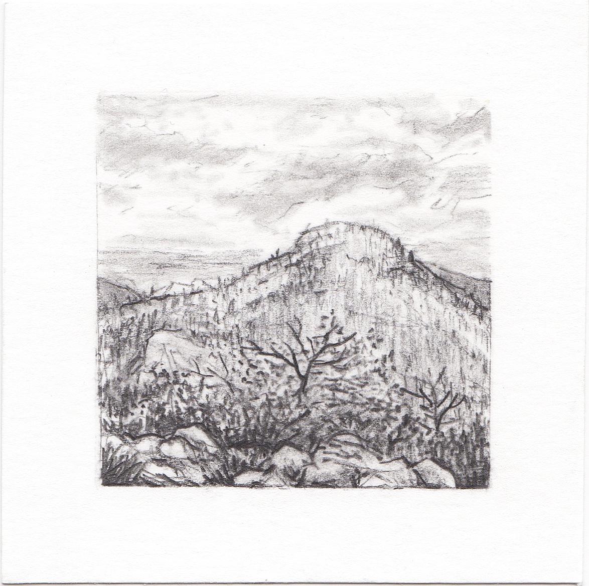 #45 Yosemite National Park, California | 3x3 | graphite