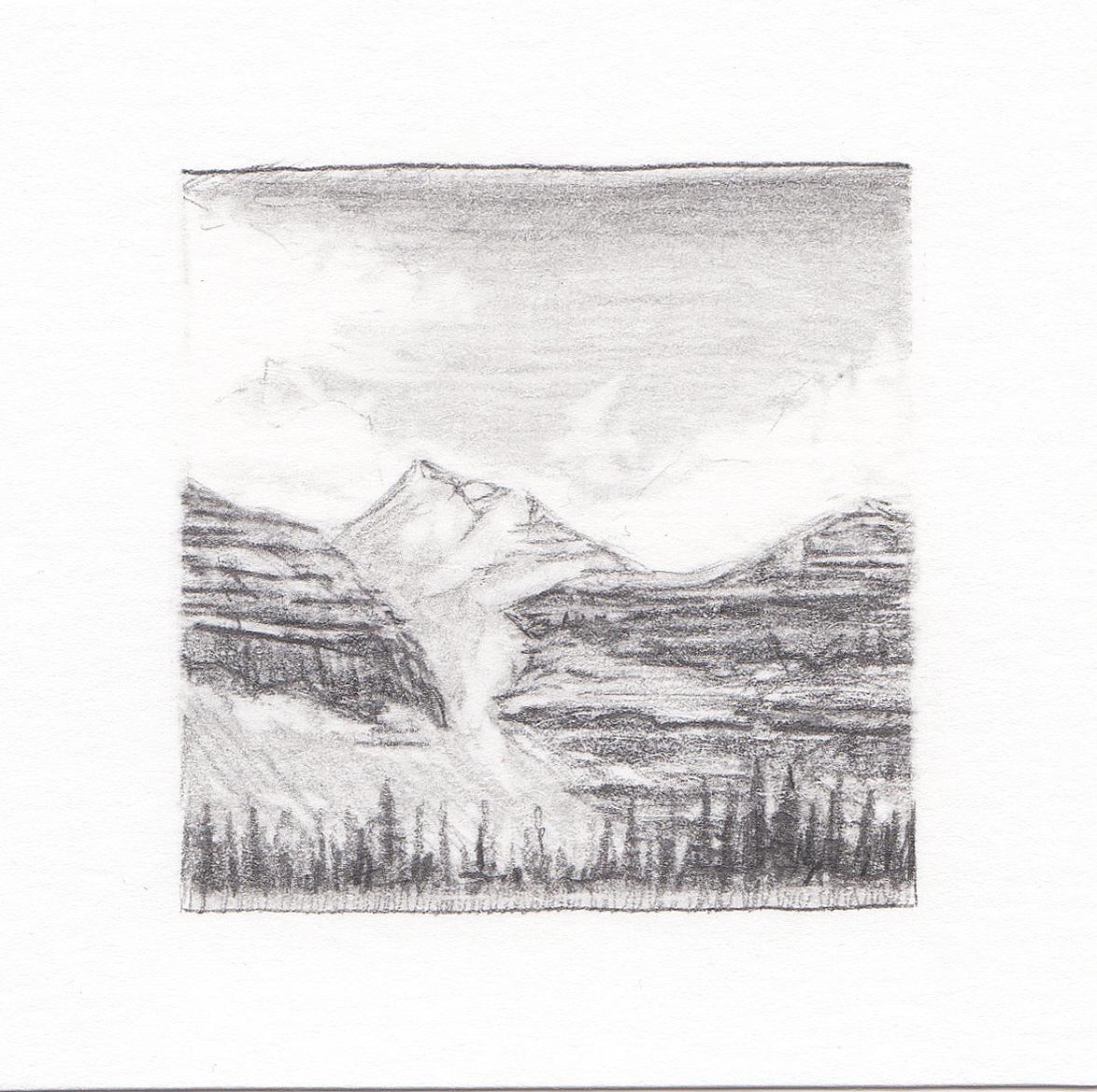 #46 Kings Peak, Uinta Mountains, Utah | 3x3 | graphite