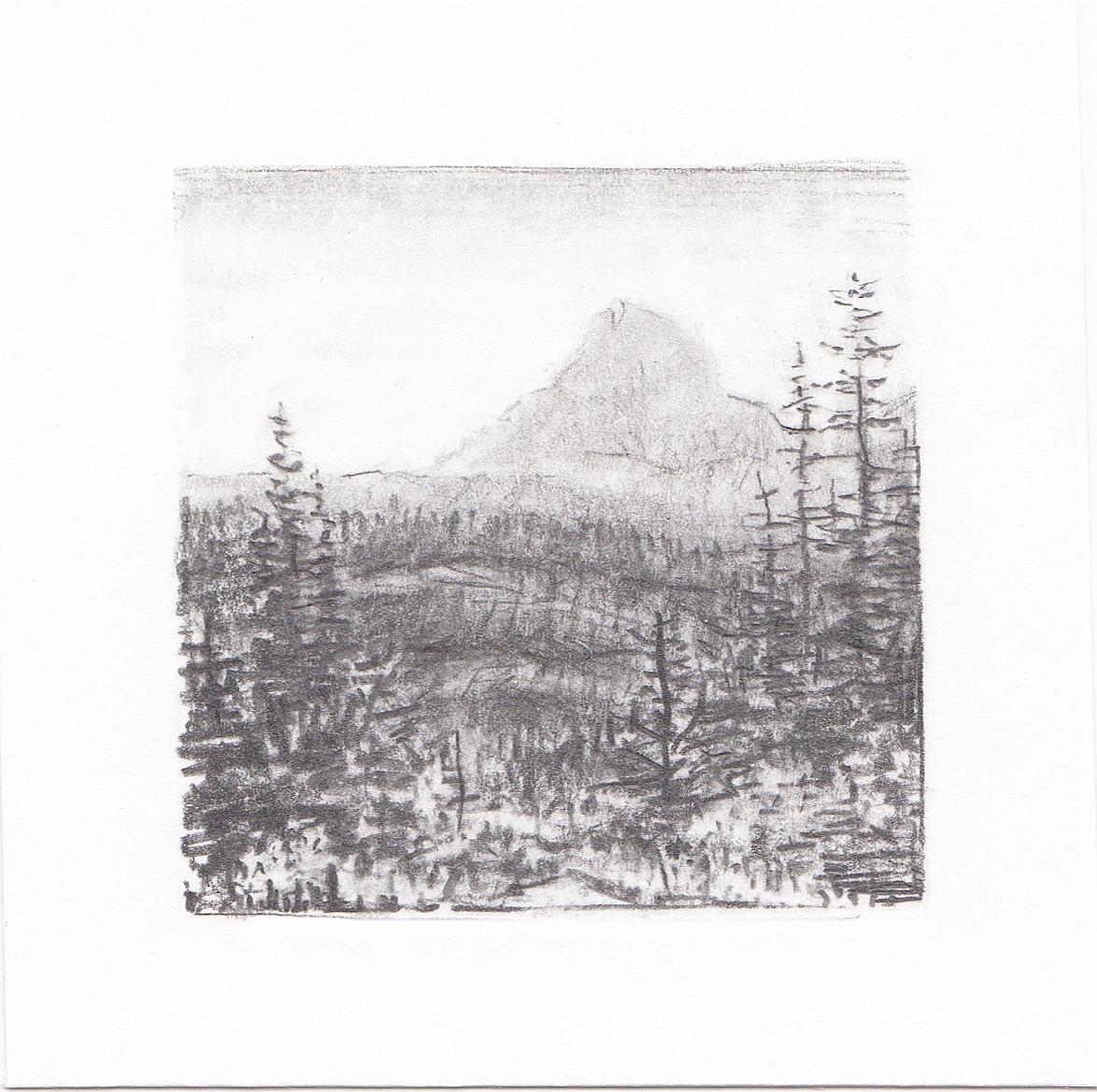 #47 Glacier National Park, Montana | 3x3 | graphite
