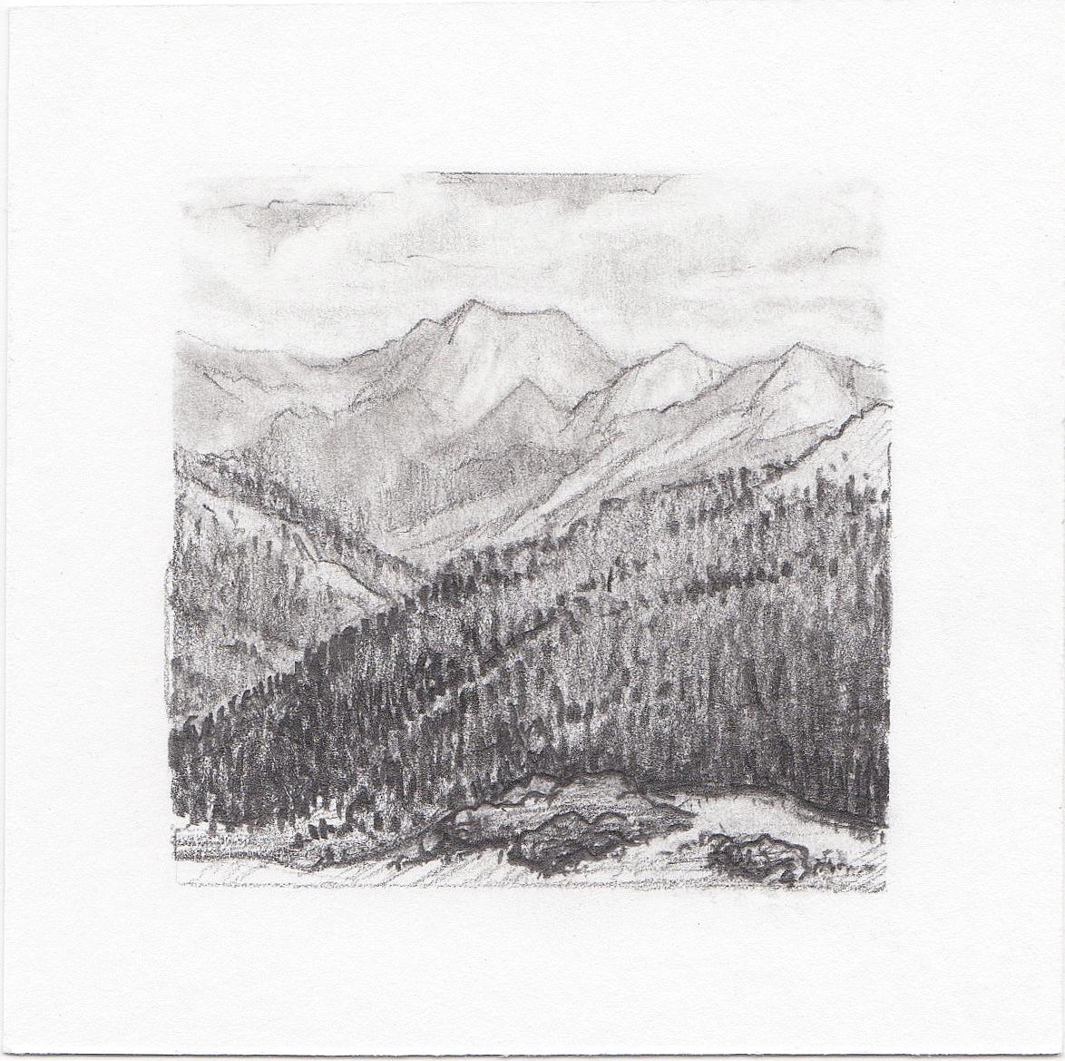 #48 Independence Pass, Colorado | 3x3 | graphite