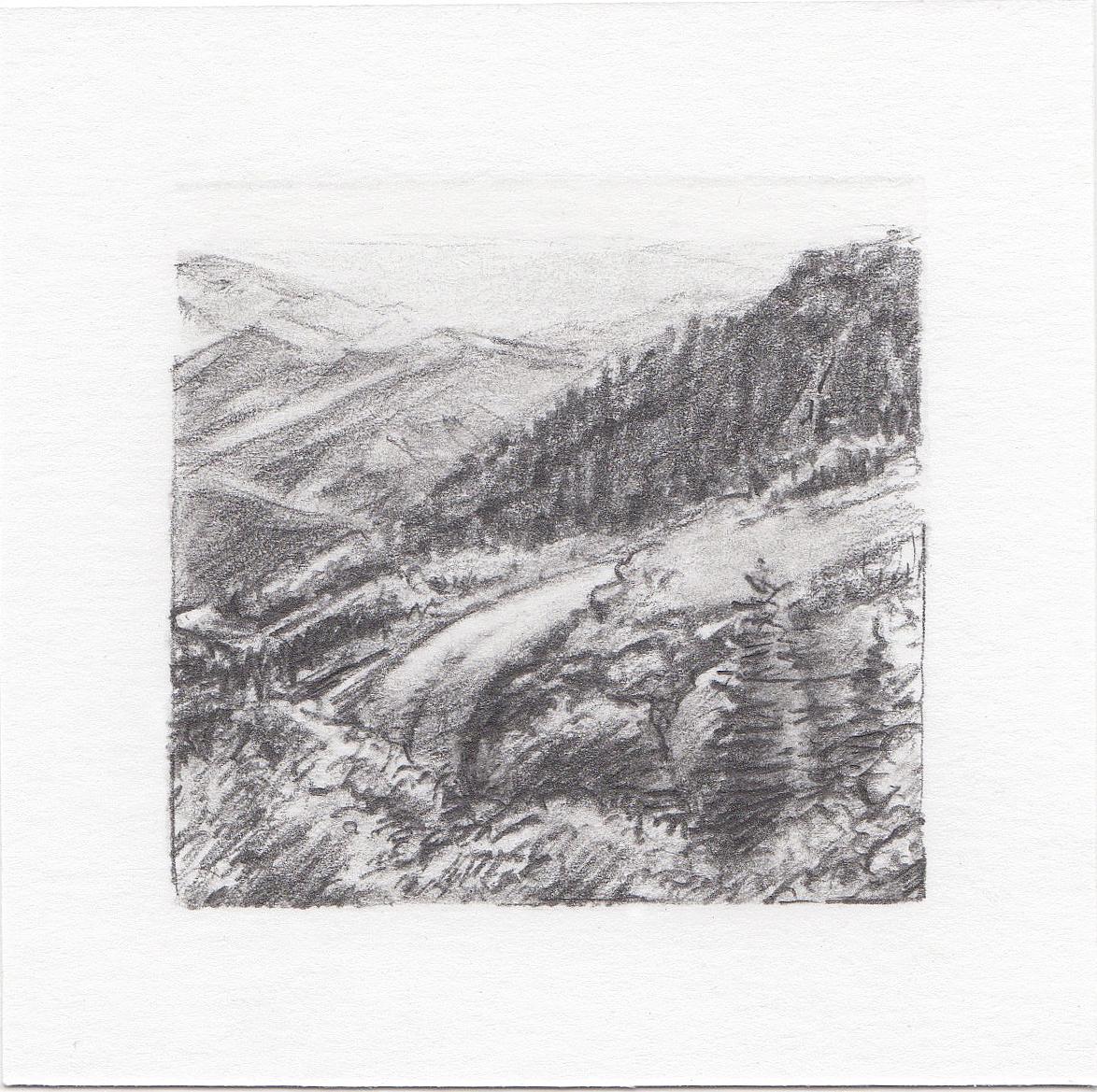 #49 Big Mountain, Utah | 3x3 | graphite