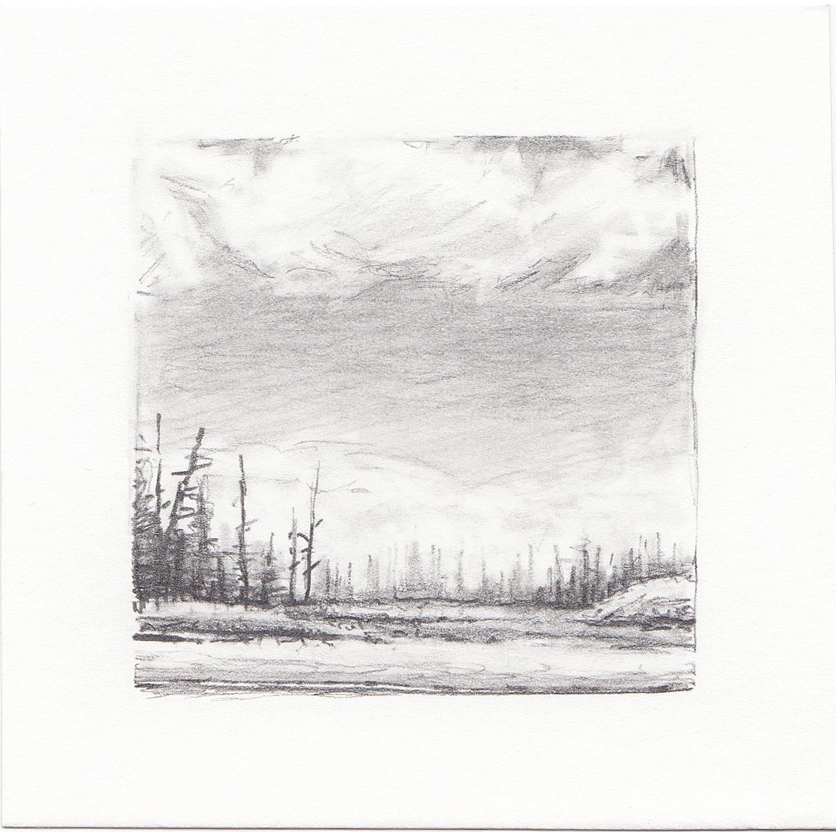 #51 Long Lake, Uinta Mountains, Utah | 3x3 | graphite