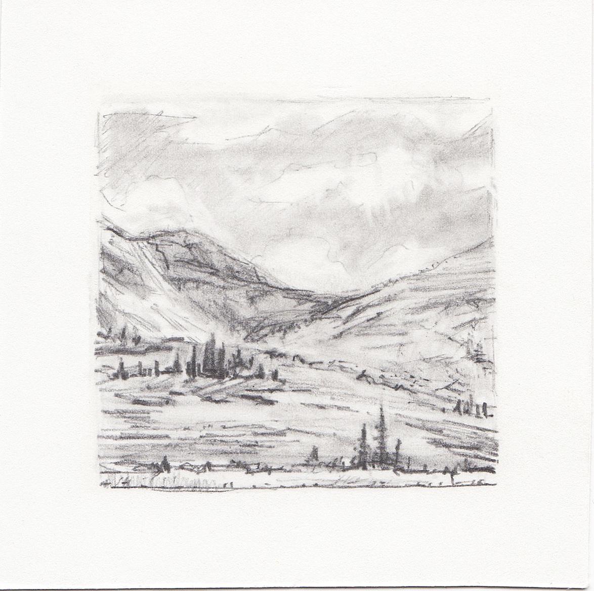 #52 Uinta Mountains, Utah | 3x3 | graphite