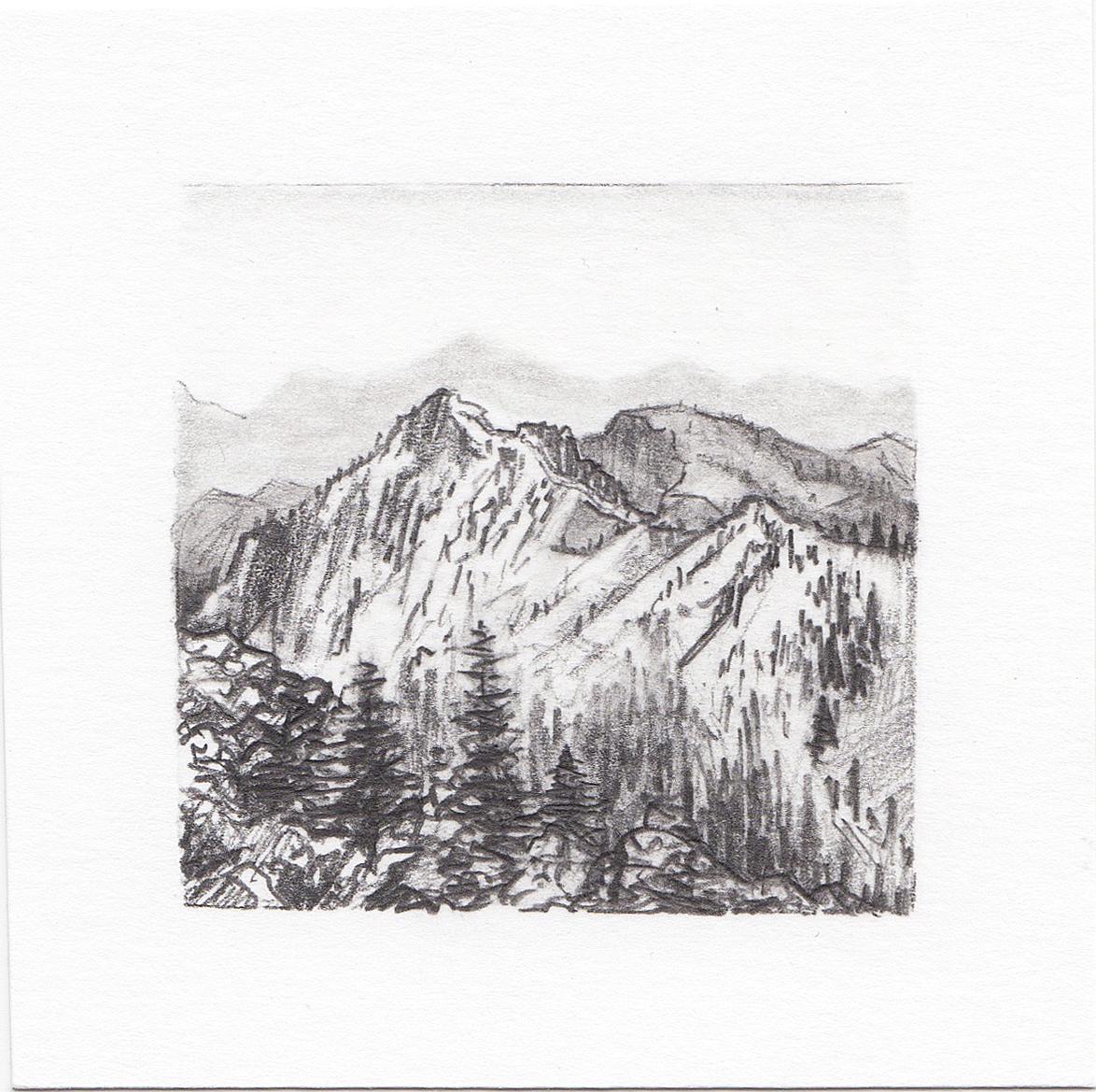 #55 Yosemite National Park, California | 3x3 | graphite