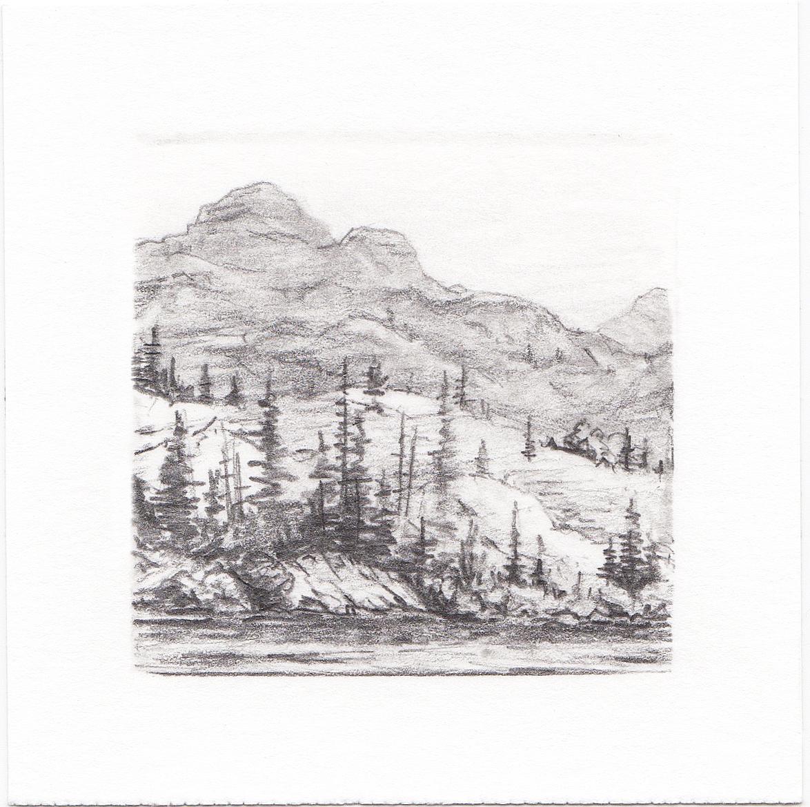 #56 Hayden Lake, Uinta Mountains, Utah | 3x3 | graphite