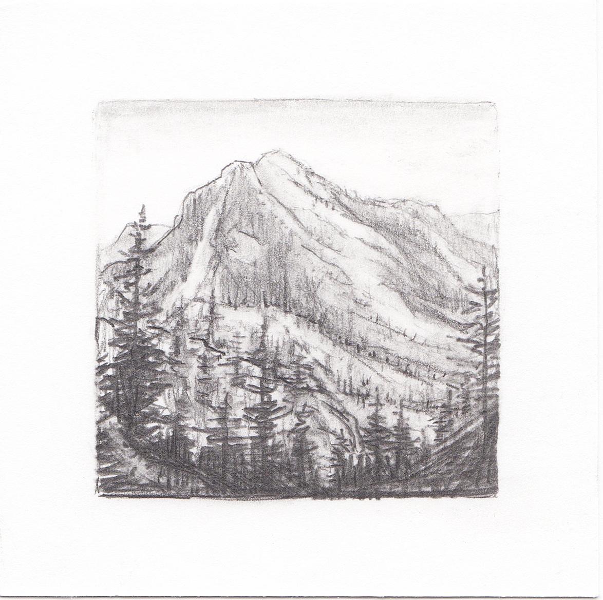 #60 Wasatch Mountains, Utah | 3x3 | graphite