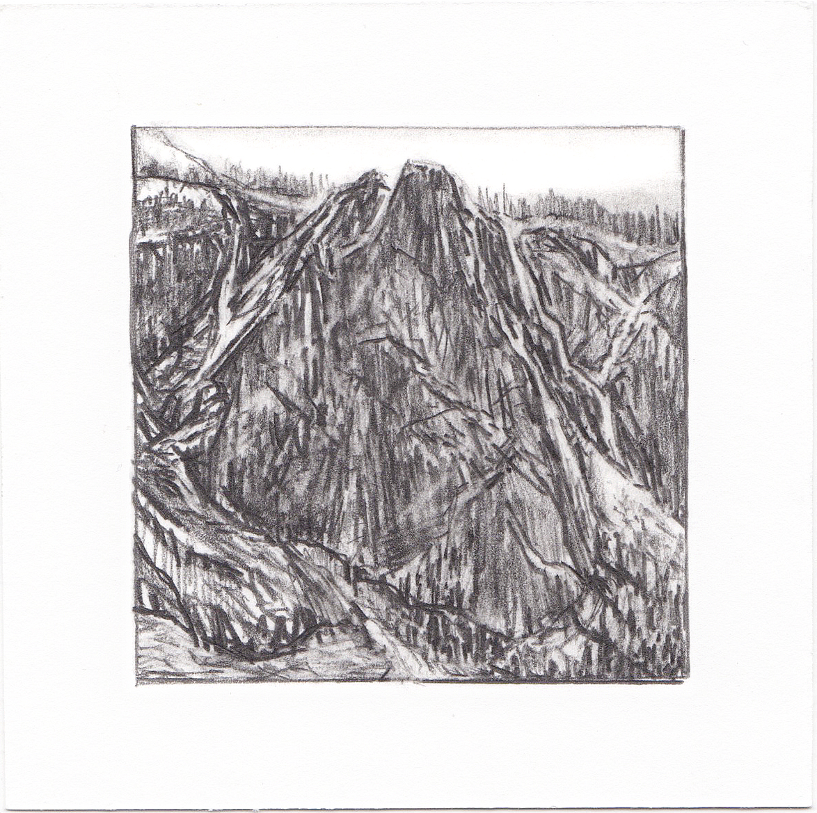 #63 Yosemite National Park, California | 3x3 | graphite