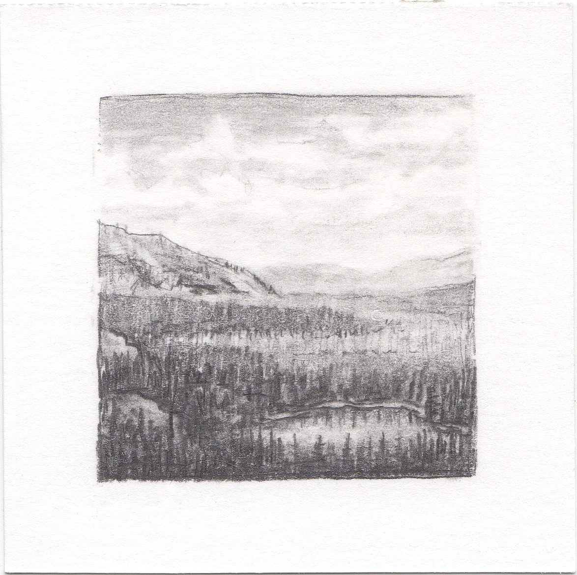 #66 Uinta Mountains, Utah | 3x3 | graphite