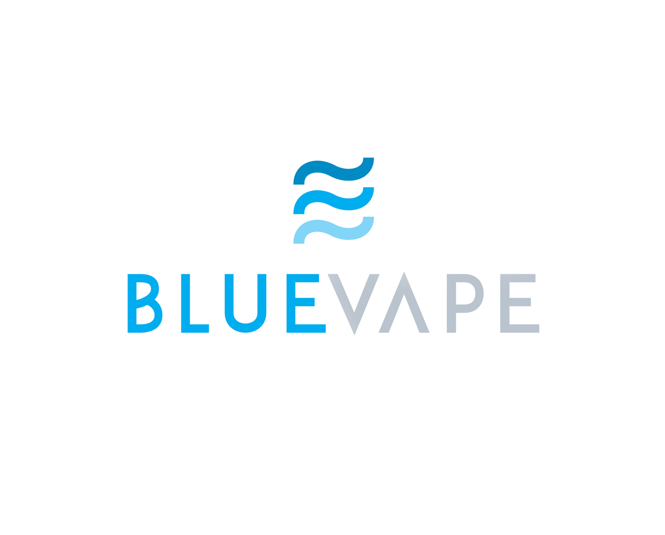 Blue Vape Smoke Shop   This Florida smoke shop wanted a logo that reflected both its location and its laid-back personality. The outcome was three modern waves.
