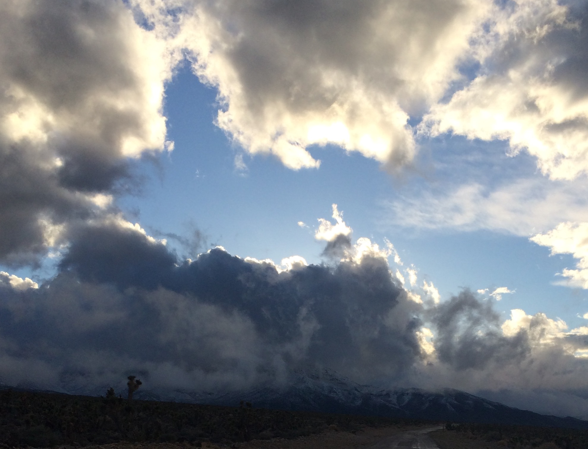 Clouds over the Spring Mountains