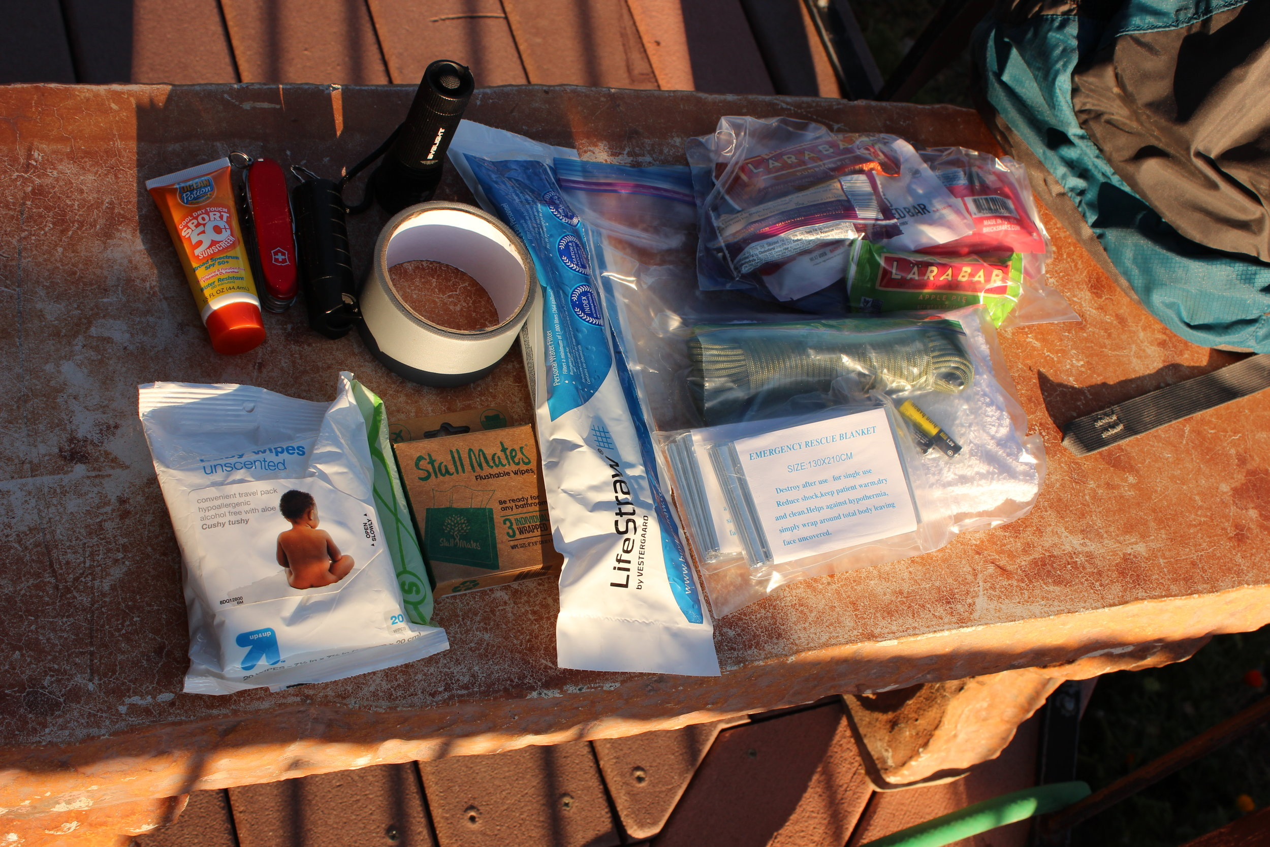 Here is a little sampling of some other things in my Get Home bag.