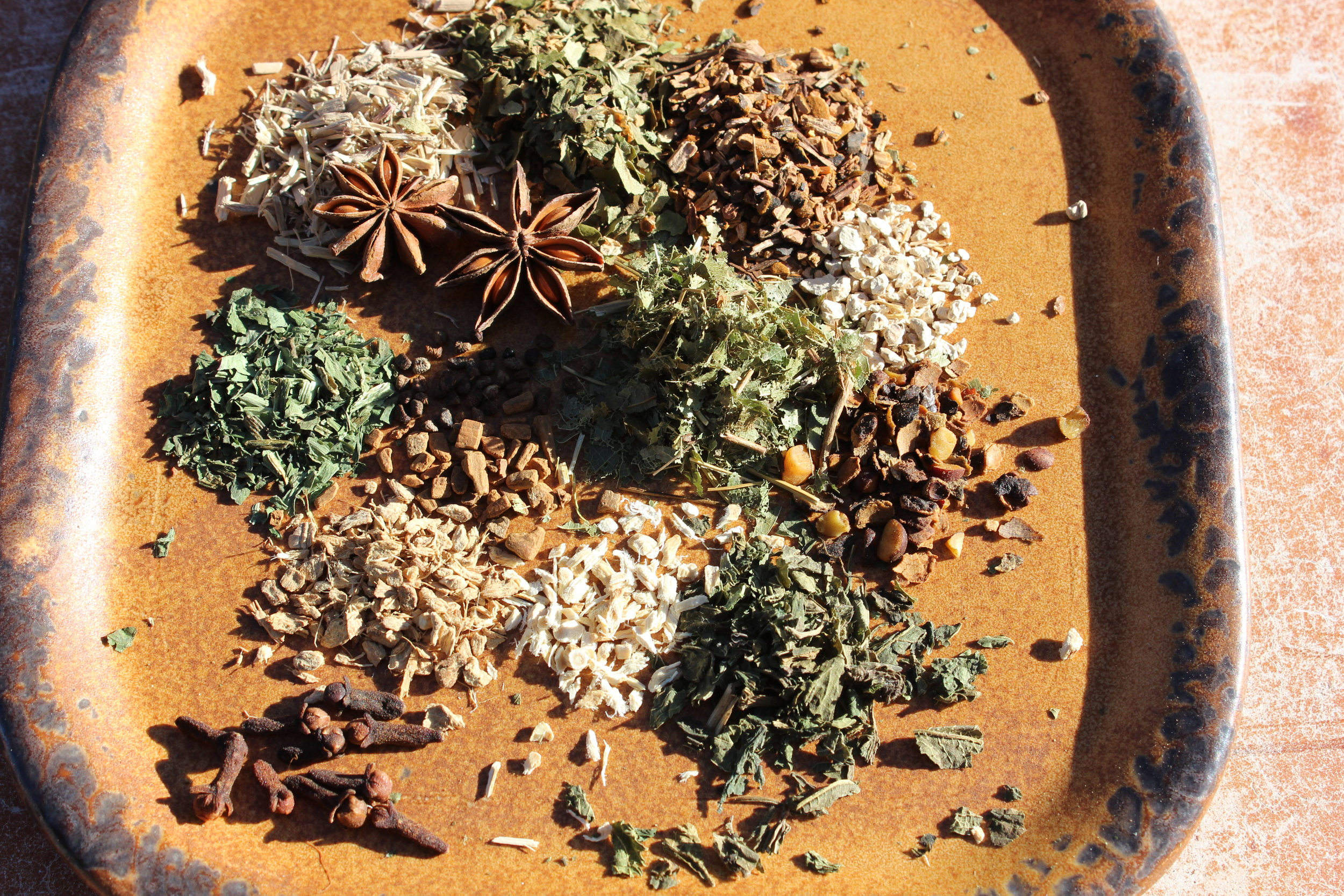 Here are the herbs used in Manly Man Tea. You can buy them at  Starwest Botanicals .