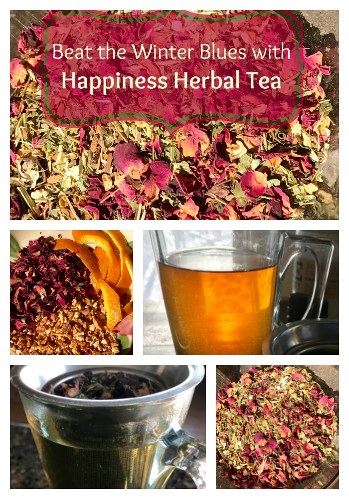 Do you suffer from S.A.D. (Seasonal Affective Disorder)? Many of us get the Winter Blues and actually can become depressed due to shorter days and more darkness. Here are ways to combat the symptoms of this seasonal sadness and a recipe for an amazing herbal tea that will help you out of the slump! #sad #herbaltea #homeremedy #anxiety #depression #tea #healingharvesthomestead #healthy