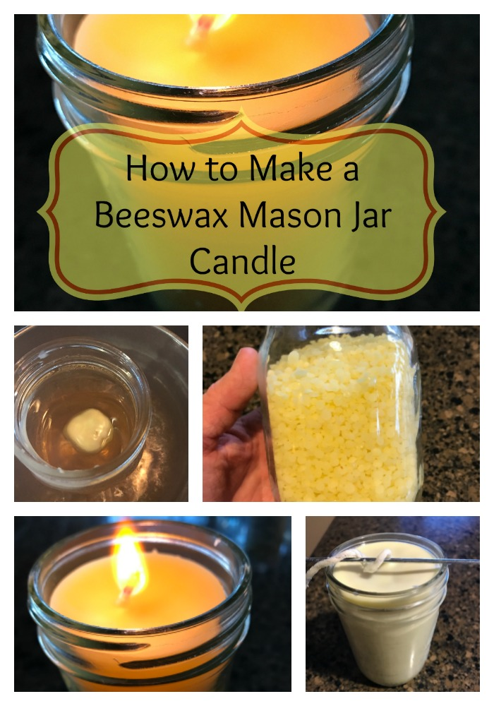 Find out how to make a perfect  beeswax  Mason jar candle!