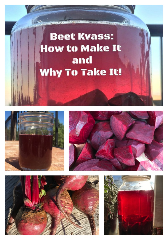 What IS that beautiful blood red drink? It's Beet Kvass! Filled with nutrition, detoxifying properties, and probiotics--it will give you a great morning boost! You'll love this easy, fast, fermented beet recipe for daily health. #beets #probiotics #fermented #recipe #kvass #howtomake #benefits #healingharvesthomestead