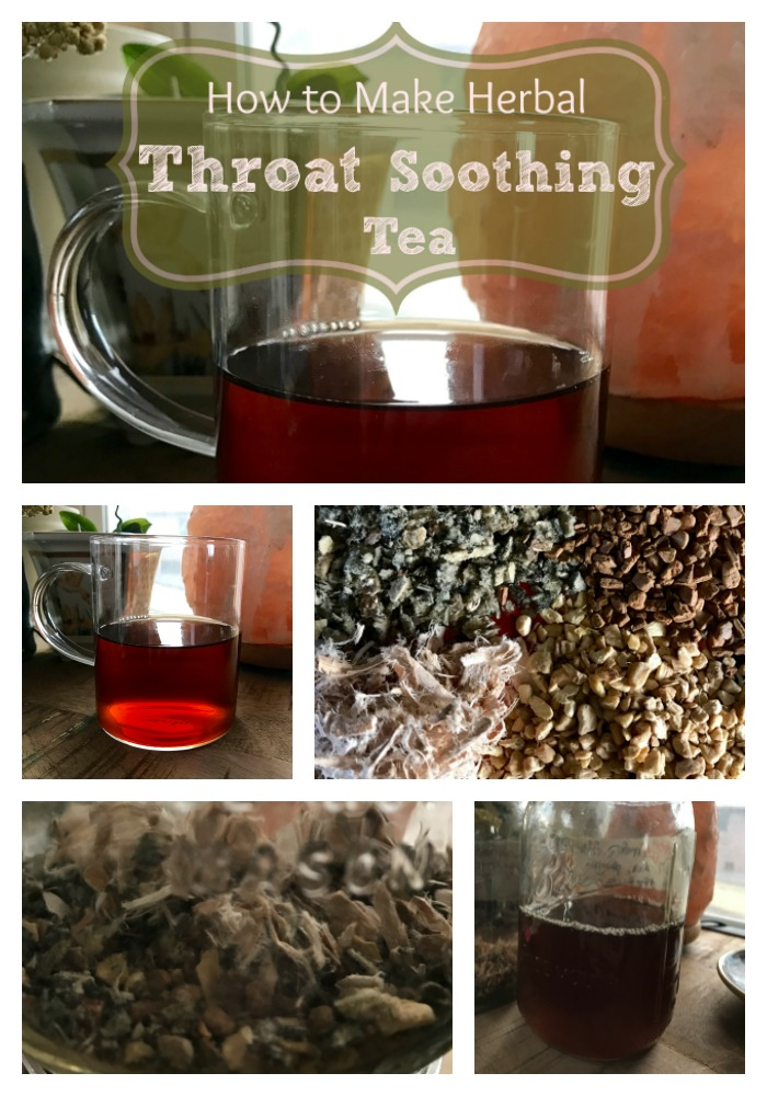 The herbs in this soothing and delicious tea recipe will do wonders for your sore throat! If you have any kind of inflammation in your throat, esophagus, or mouth, this demulcent tea will take care of it! Learn how to make this easy and delicious tea for the next time you have a sore throat!