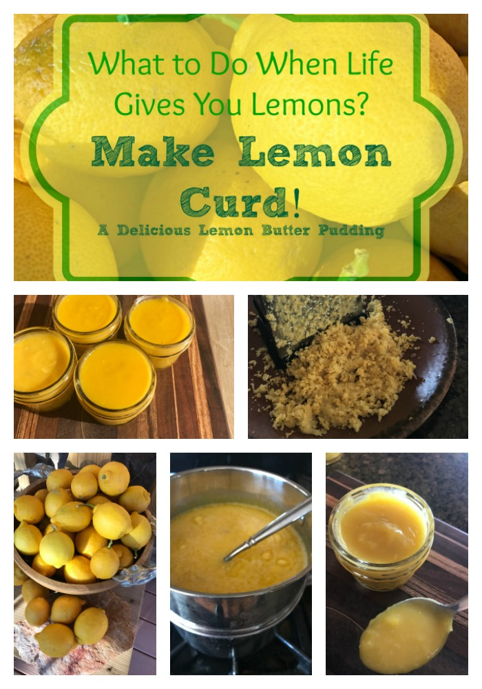 What is lemon curd? It sure is a strange sounding thing, right? Well, it's a lovely, buttery yellow lemon type of pudding.  You can eat it by itself or use it as a delicious topping.  Best of all, it's EASY to make and lasts for awhile in the refrigerator too.  Find out how to make this yummy happy lemon pudding!