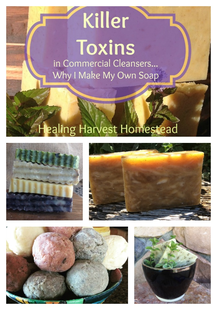 Did you know that most commercial store-bought soaps are not really soap at all? In reality they are dangerous blends of poisons that seep into your and your family's skin. Find out just what these toxins are and how to avoid them. Stay safe and be chemical free! #handmadesoap #toxins #soap #poisons #commercialsoap #makeyourownsoap #makeyourown #makeityourself #diy #whydiy #dangerous