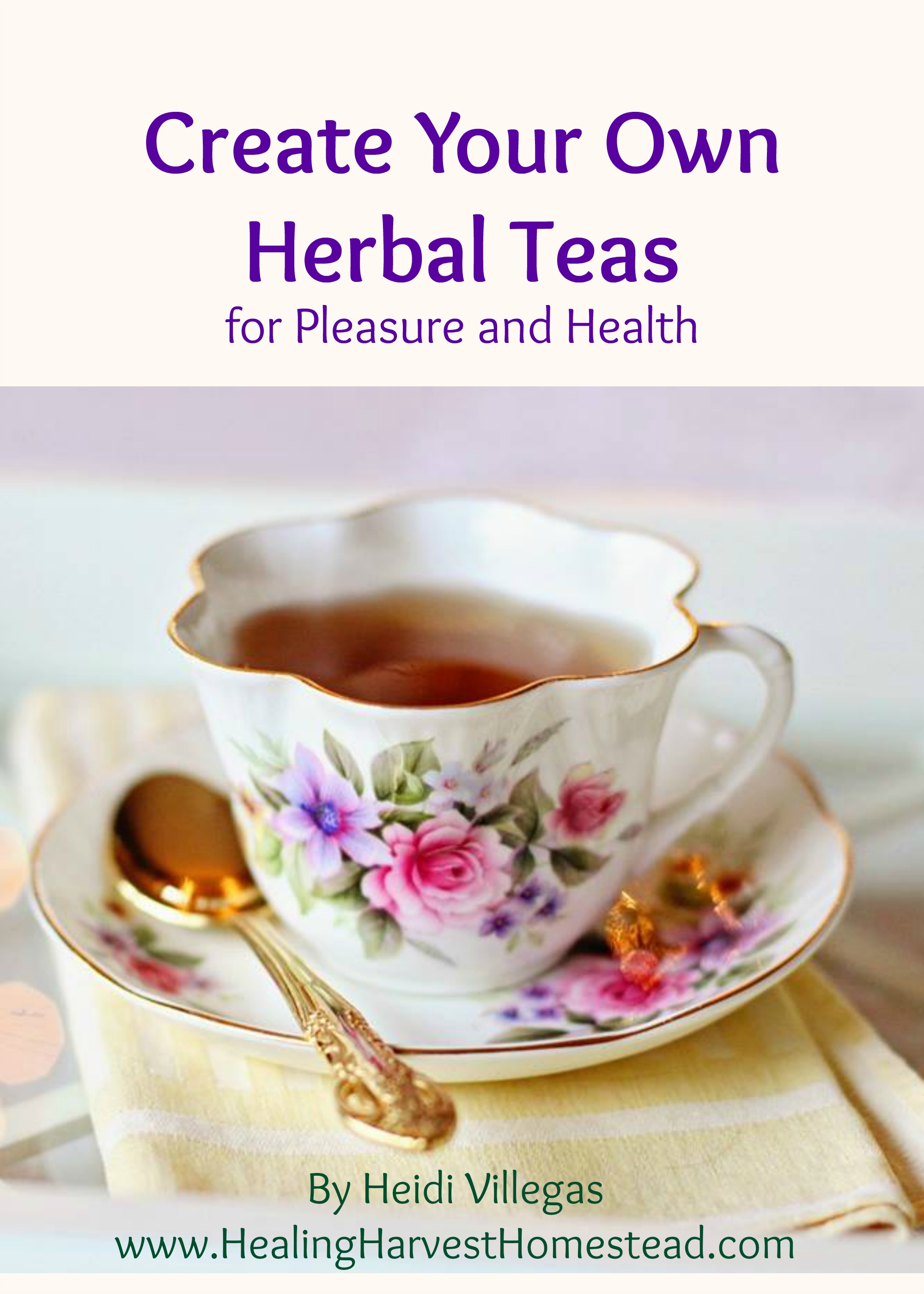 Click on the picture above to  learn more about how to create your very own personalized herbal teas ...either for taste or pleasure! This eBook is clear and concise, and contains excellent information on the basics you need to know to create and formulate your own tea blends!