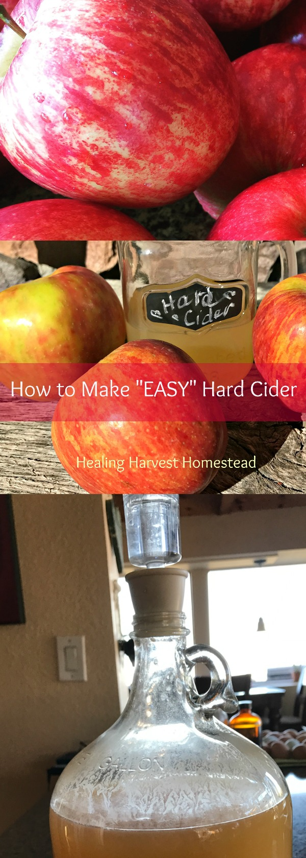 "It's ""EASY"" to make hard apple cider! Here's how we made our first batch and how it turned out!"