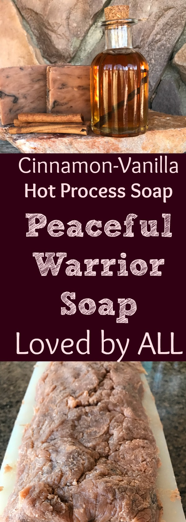 This is seriously one of my best-smelling soaps! Men love it. Women love it! It's just loved by everyone! Find out how to make this amazing hot process soap! This easy hot process soap tutorial makes the perfect handmade soap gifts…ever! #hotprocess #soaprecipe #cinnamonvanilla #tutorial #howtomake #handmade #soap #healingharvesthomestead