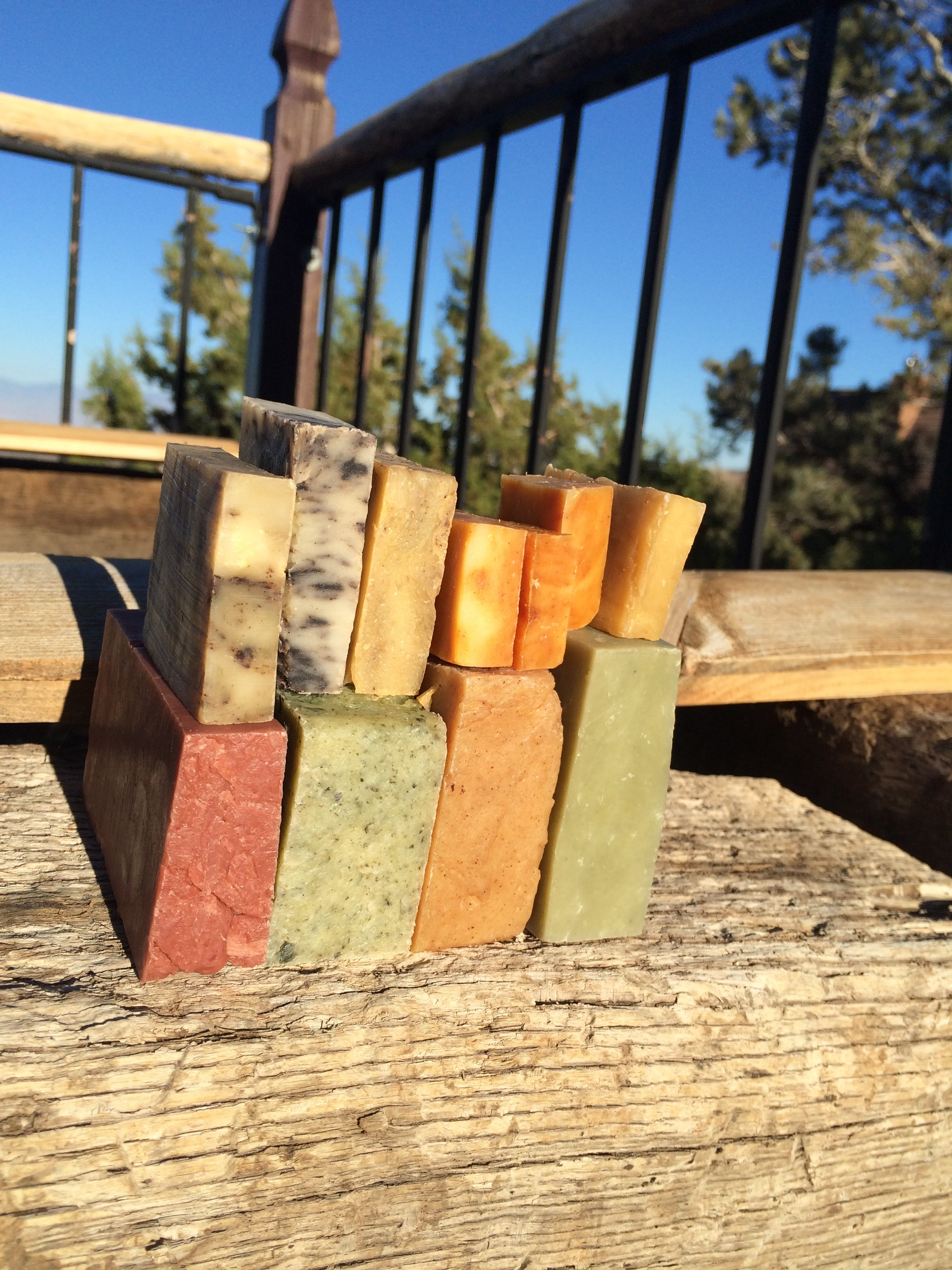 A variety of hot process truly natural soaps!
