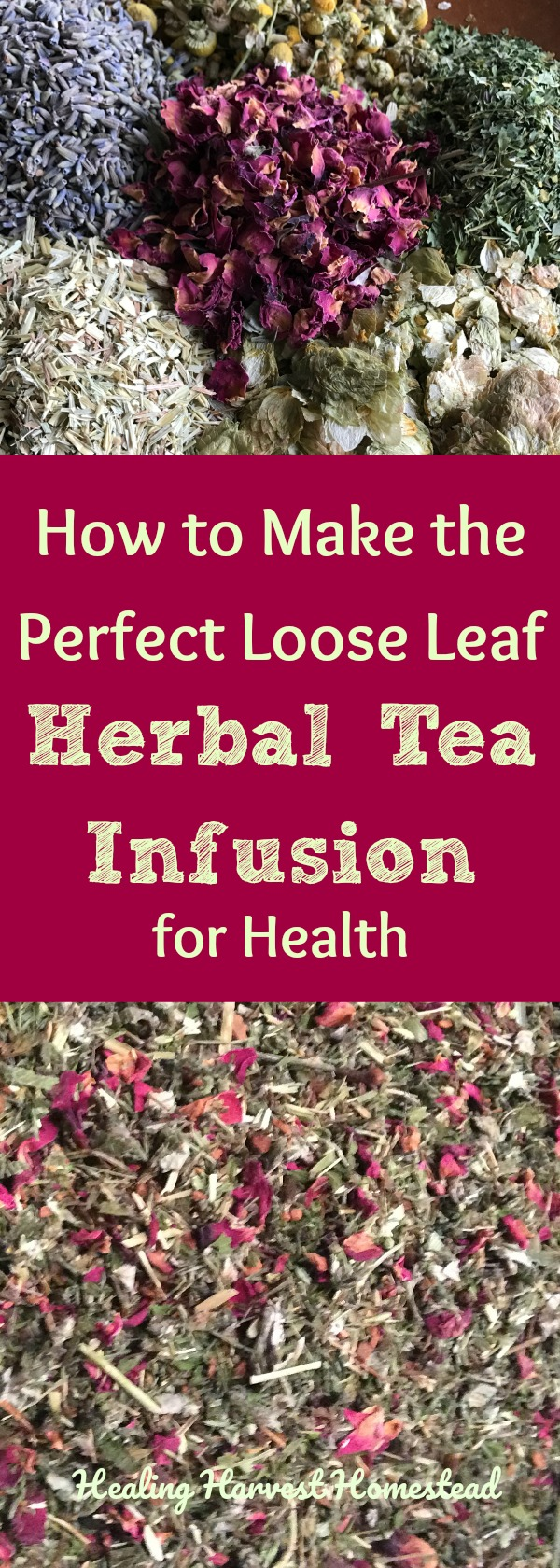 "One of the most commonly asked questions I get as an herbalist is, ""How do you use loose leaf herb tea? How do you make the tea?"" If you are new to preparing loose leaf teas, you might feel leery of giving it a try, but it is really very simple and easy! Here are our two favorite ways of infusing herbal tea blends---using a cup or a Mason jar! Learn how to make an herbal tea infusion for health!"