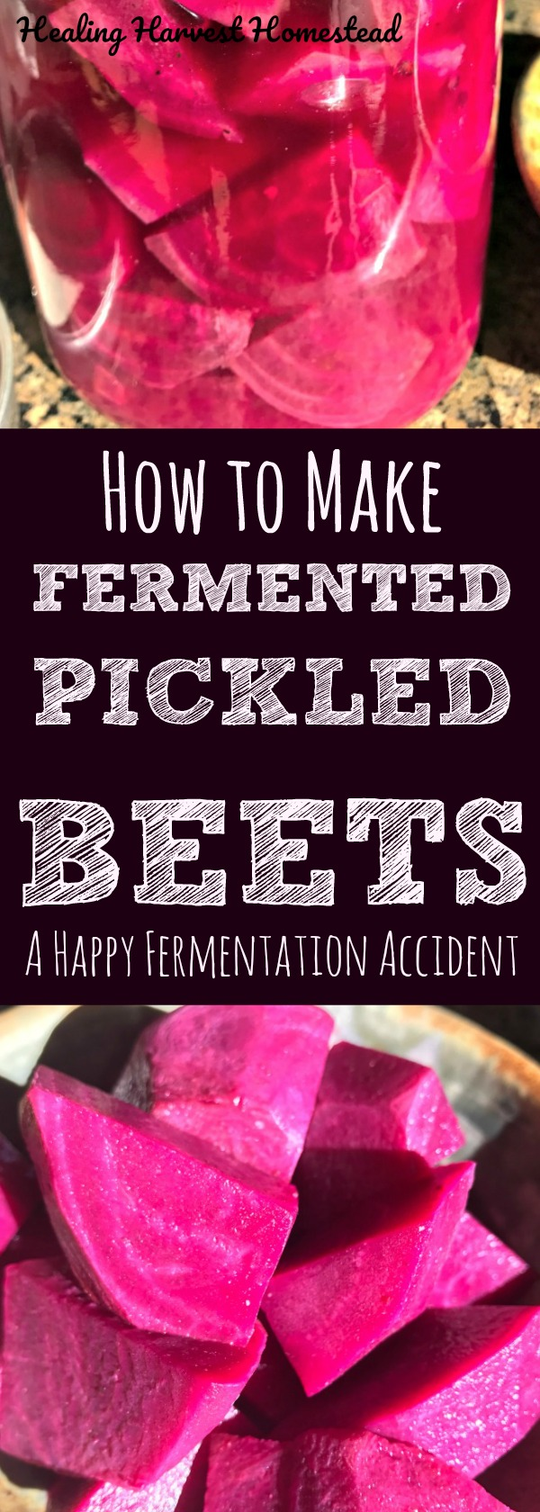 I never thought about fermenting beets for actual use---except to make beet kvass (a delicious probiotic traditional Russian drink), but I had a happy fermentation accident! Here's how to make soft, delicious fermented pickled beets! Find out how to ferment your beets!