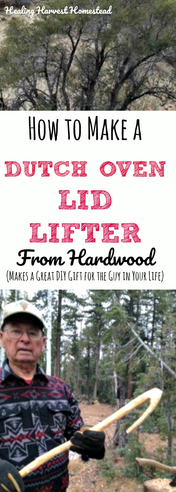 Learn how to make a Dutch oven tool by hand in the wilderness! All you need is a great hardwood branch and a hatchet. Find out a great survival skill and learn how to make your own lid lifter for your Dutch oven!