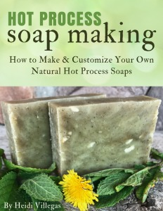 Learn how to make your own natural hot process soap  with one never fail recipe and recipes for variations using herbs, clays, and essential oils. Available on Amazon Kindle too !