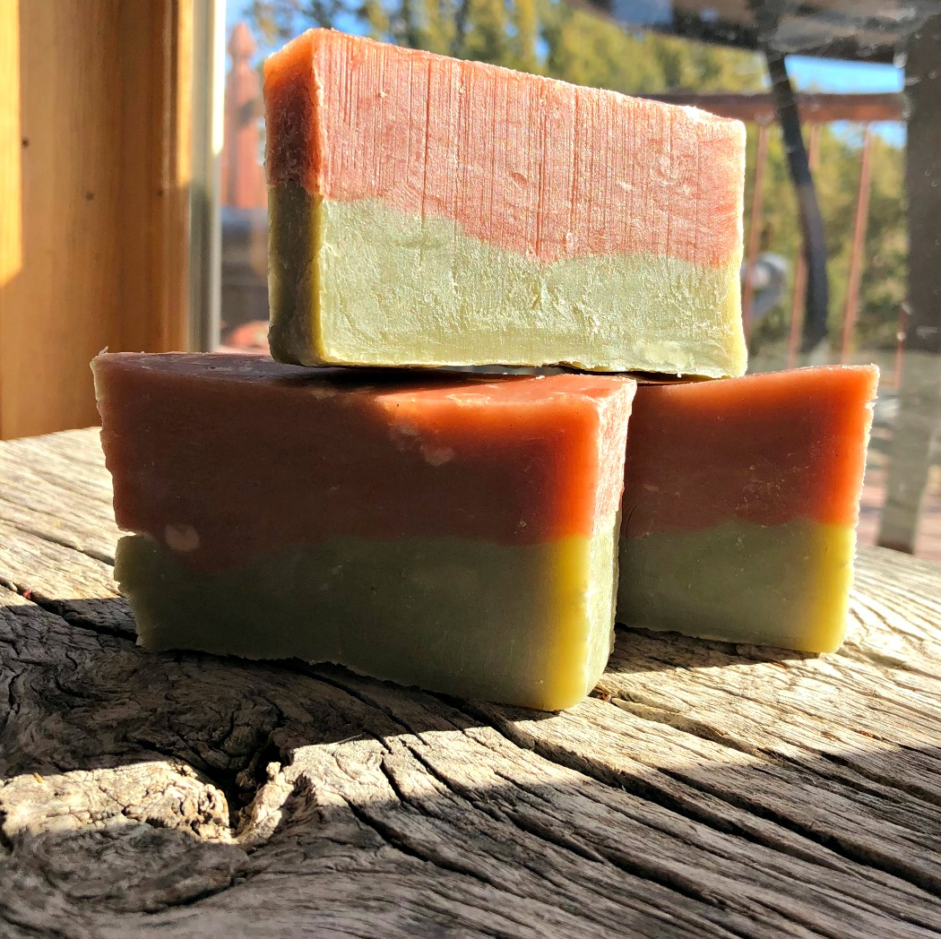 The final products! Quite pretty, if I say so myself. And I can attest to the fact that they are moisturizing, lather great, and smell incredible!