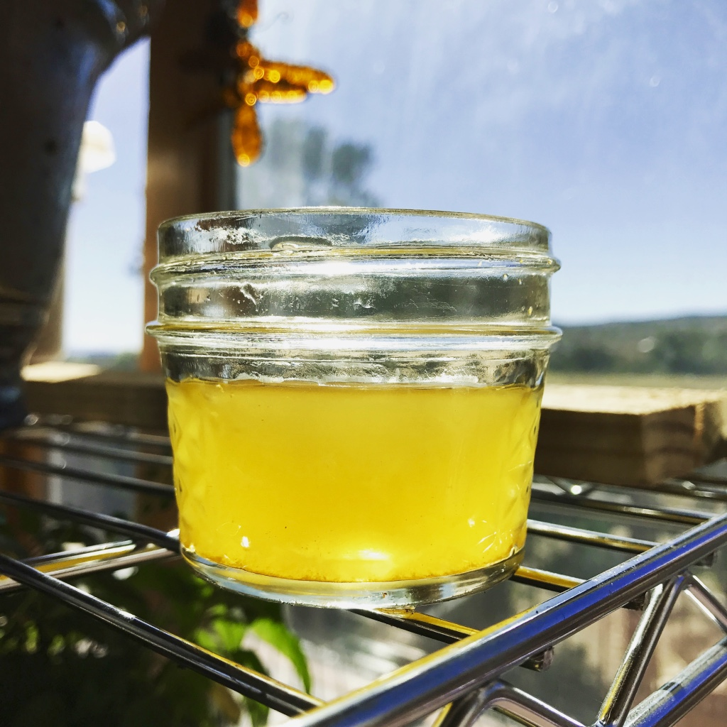 Here is a little glass of  Golden Beet & Turmeric Kvass. ...SO good! You can read about regular  Beet Kvass  here too!