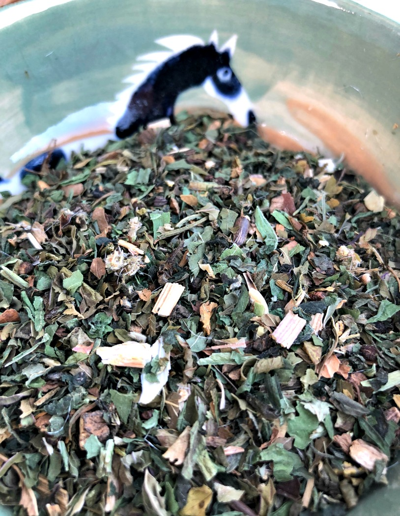 Blended herbal liver detox support tea.