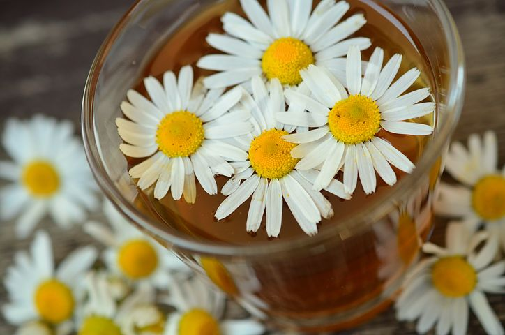 Chamomile tea---you don't need the flowers in the cup. ;-)