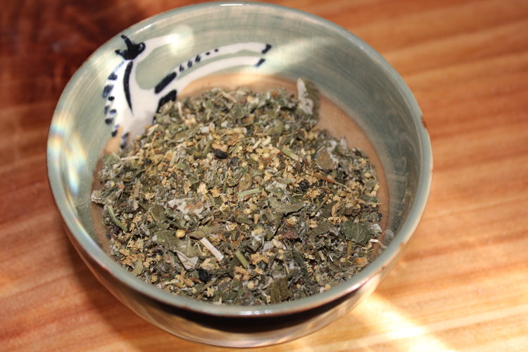 Allergy tea. Actually, any time you can add herbs to your life, you should. Find out which ones you need, do a little research, and give them a try. That's my personal opinion and advice. They work!
