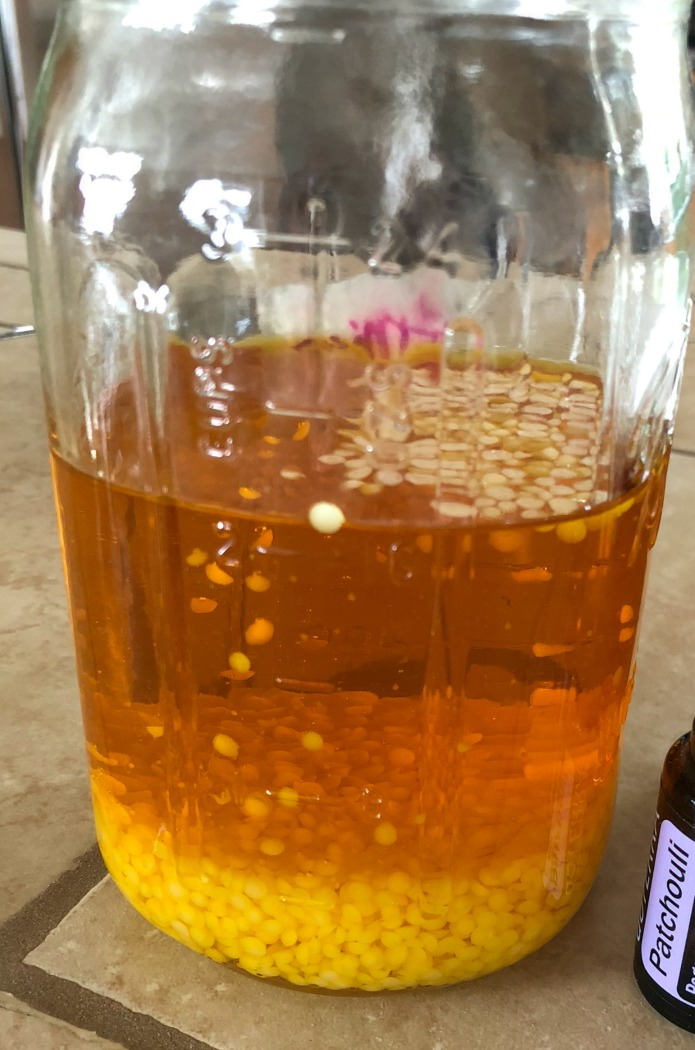 Beeswax in the Calendula infused oil--that's why it's so golden.
