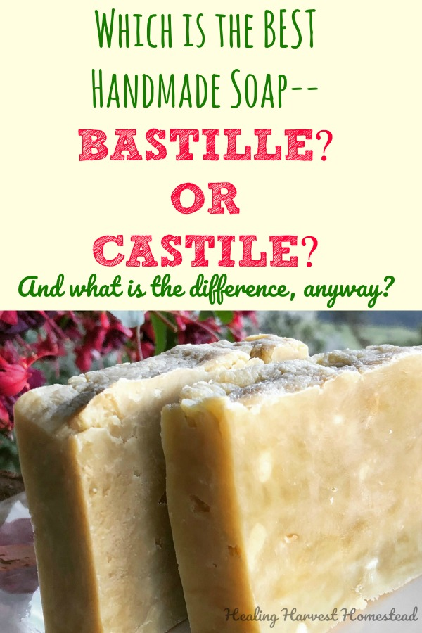 Bastille soap? Castile soap? What the heck? What are these special handmade soaps all about? What are they made of? How are they different? Which is better: Bastille or Castile soap? Well, here are two recipes, one for Bastille soap and one for Castile soap. And here are the differences between each kind of soap in this soap science experiment! Find out how to make bastille and castile soap---and which is the best for you!