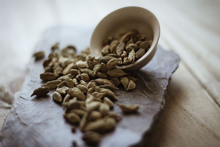 Cardamom pods are quite exotic. You can also buy it  ground,  a much easier way to use this herb.